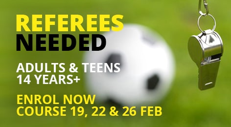 referees needed adults and teens 14 years+ min